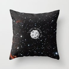 A Meteor in the space Throw Pillow