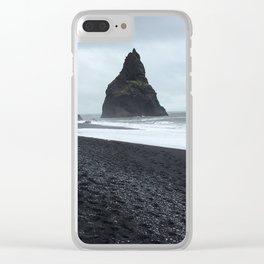 Black Sand Beach - Iceland Clear iPhone Case