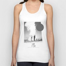 Love Is To Die | Collage Unisex Tank Top