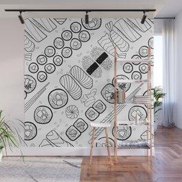 Sushi Coloring Wall Mural