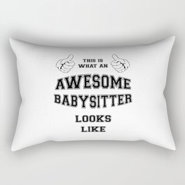 AWESOME BABYSITTER Rectangular Pillow
