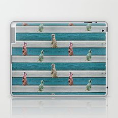 Meercat Beach Stripes Laptop & iPad Skin