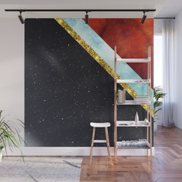 Golden Marble with space Wall Mural