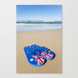 Australian Beach Thongs Canvas Print