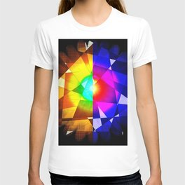 lined color flash forms and shapes attack T-shirt