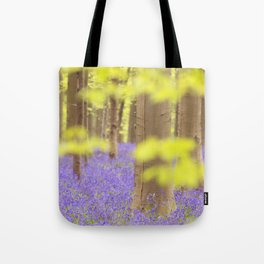 Bluebell forest in full bloom Tote Bag