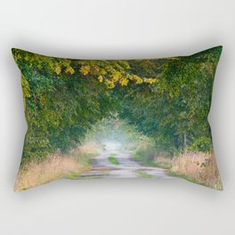 Alley of lime trees in autumn Rectangular Pillow