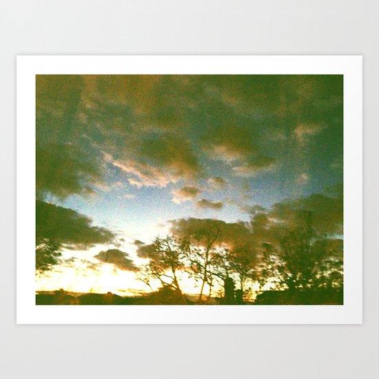 Window sunset Art Print