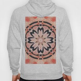 Black Flower Mandala  Hoody