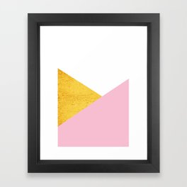 Gold & Pink Geometry Framed Art Print