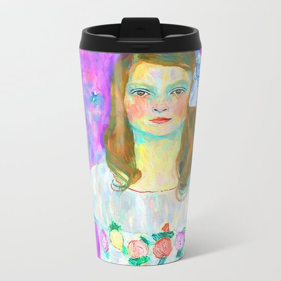 After Klimt - Portrait of Mada Metal Travel Mug