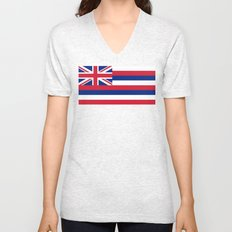 State flag of Hawaii - Authentic version Unisex V-Neck