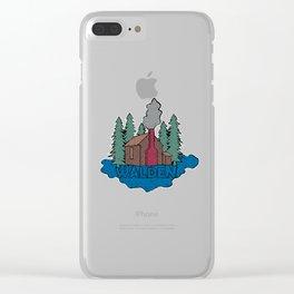Walden - Henry David Thoreau (Coloured textured version) #society6 #decor #buyart Clear iPhone Case