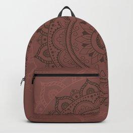 Mandala Watercolor Sketchy, Mandala Yoga, Red, Brown Backpack