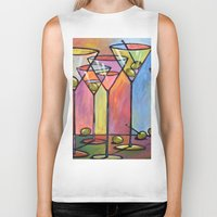 alcohol Biker Tanks featuring Martini Bar ... Abstract alcohol art by Amy Giacomelli