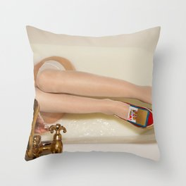 The queen is thirsty. Really, really thirsty Throw Pillow