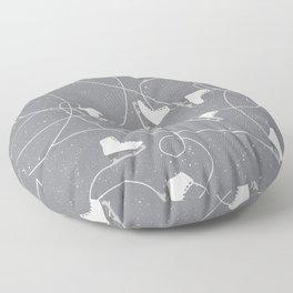 Winter Pattern Ice Skating Floor Pillow