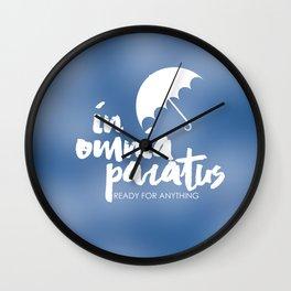 In Omnia Paratus Wall Clock