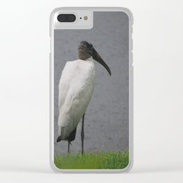 Wood Storks Clear iPhone Case