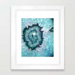 Teal Agate Framed Art Print