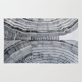 Streetart in Gray Concentric shapes Rug