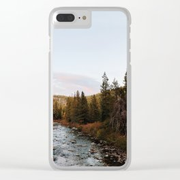 Truckee River Sunset Clear iPhone Case