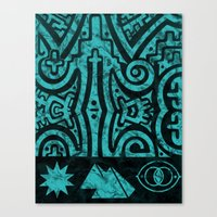 stargate Canvas Prints featuring Giza Stargate by LuxMundi