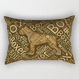 Boxer dog Word Art Rectangular Pillow