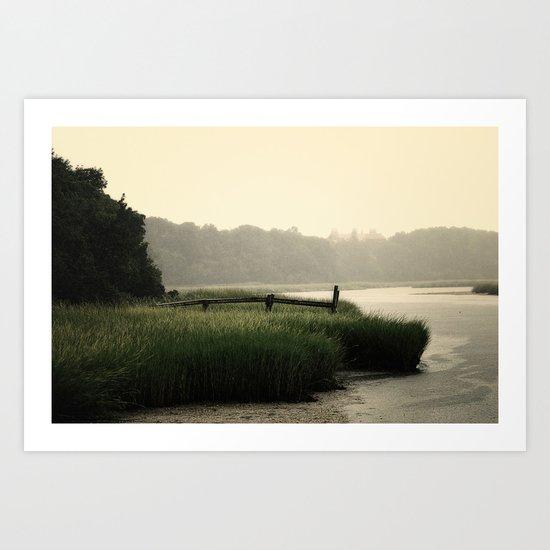 Rain on a summer day on Long Island Art Print