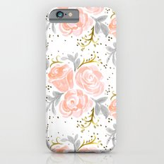 Sparkling Rosé flora iPhone 6s Slim Case