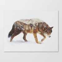 andreas preis Canvas Prints featuring Arctic Wolf by Andreas Lie