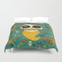 halloween Duvet Covers featuring Halloween by Ariadna