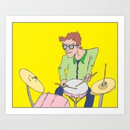 Drummer Dude Art Print