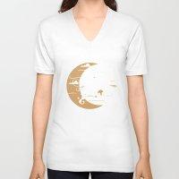 milwaukee V-neck T-shirts featuring Milwaukee Home Moon by Vuddha Co.