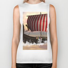 The  viking longship Biker Tank