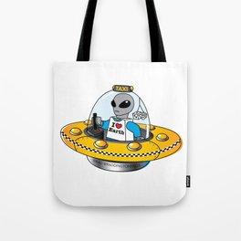Alien Taxi Tote Bag