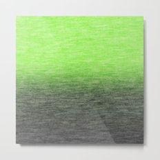 Ombre Lime Metal Print