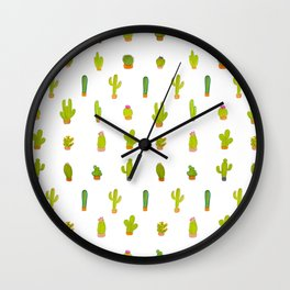Mind-calming cactuses Wall Clock