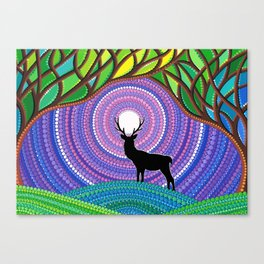 A Silent Visitor Canvas Print