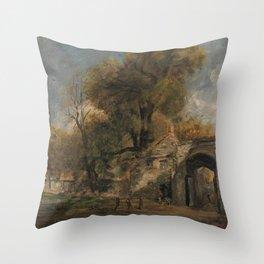 John Constable - Harnham Gate, Salisbury Throw Pillow