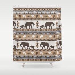 Boho animals | Elephants tan Shower Curtain