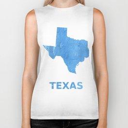 Texas map outline Blue Jeans watercolor Biker Tank