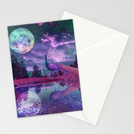Surreal World With Peacock Stationery Cards