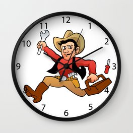 handyman cowboy. Wall Clock
