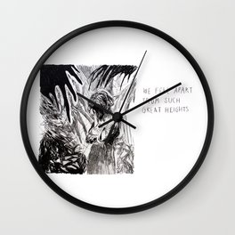 We Fell Apart From Such Great Heights Wall Clock