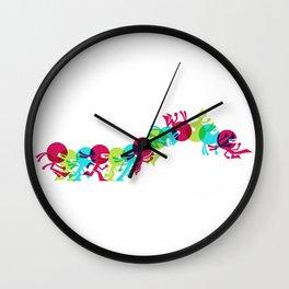 ninja moves Wall Clock