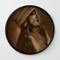 afro Wall Clocks featuring Afro Beauty by Luis Dourado