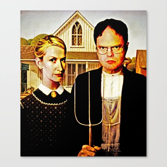 Dwight Schrute & Angela Martin (The Office: American Gothic) Canvas Print