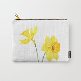 two botanical yellow daffodils watercolor Carry-All Pouch