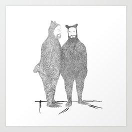 Two Bears Get Married Art Print